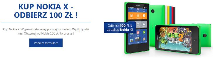 Nokia X promocja 100zł