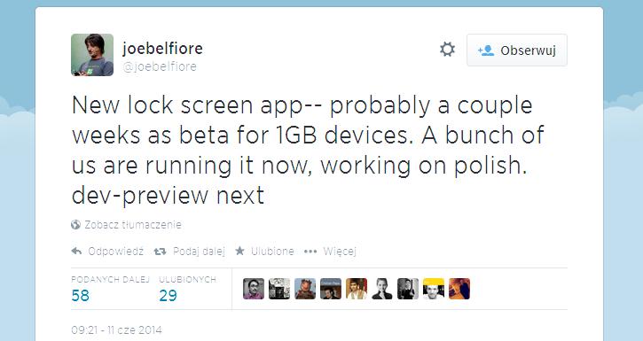 Nowy ekran blokady