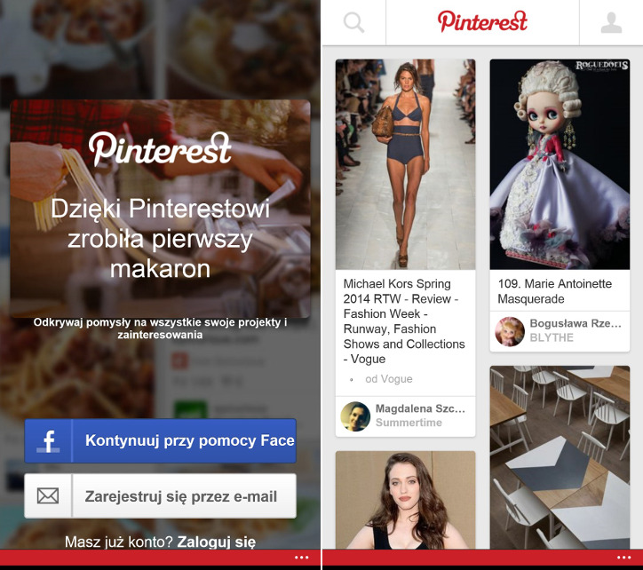 Pinterest Windows Phone