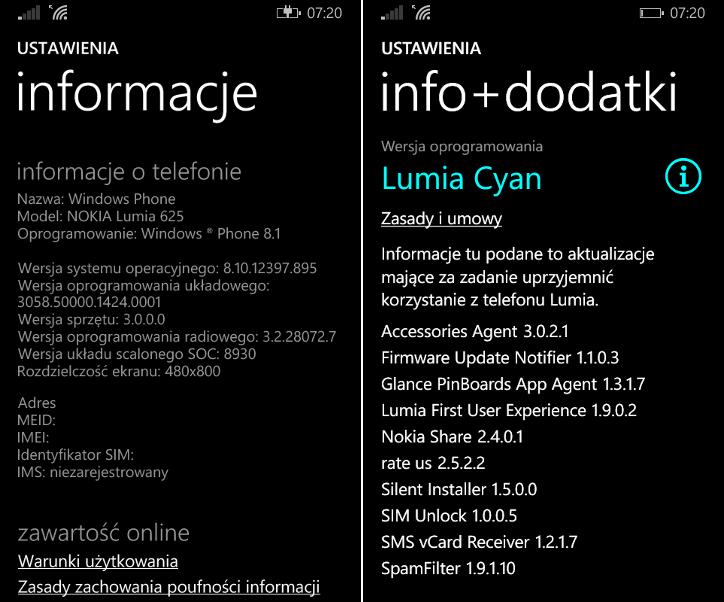 Nokia Lumia 625 Lumia Cyan