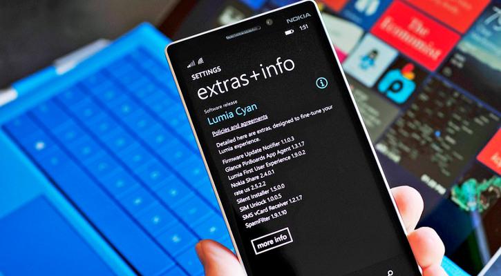 Nokia Lumia 930 z oprogramowaniem Lumia Cyan