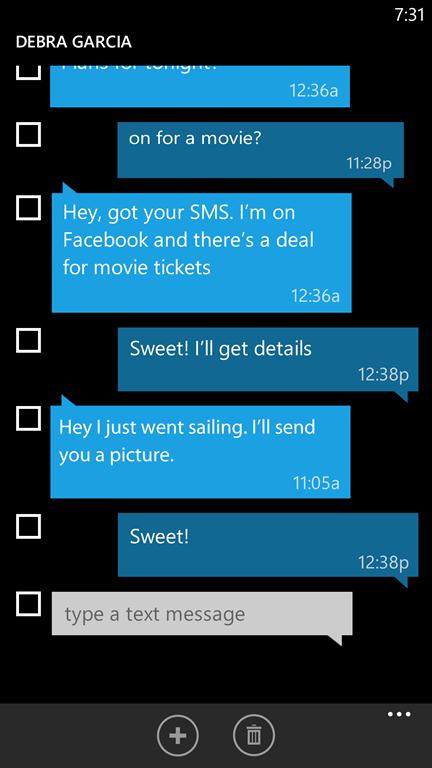Windows Phone 8.1 - Wiadomości