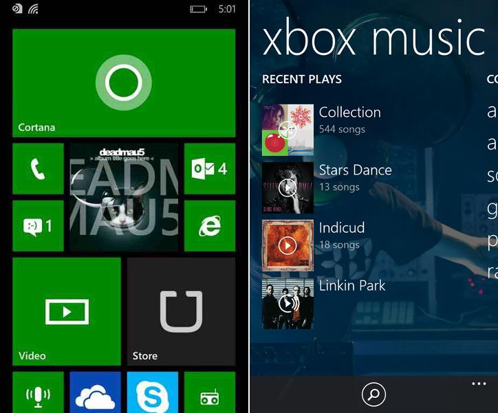 Windows Phone 8.1 - Xbox Music
