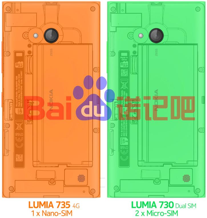 Nokia Lumia 730 i Nokia Lumia 735
