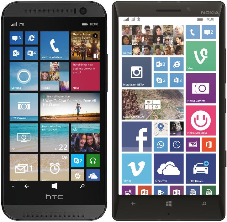 Nokia Lumia 930 vs HTC One M8