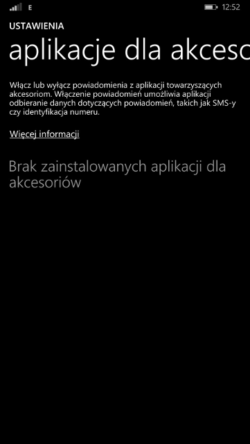 Windows Phone 8.1 Update 1 - Aplikacje dla akcesorii