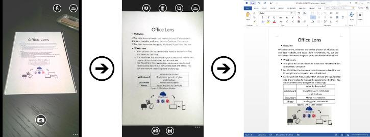 Office Lens - konwertowanie dokumentu do pliku Word
