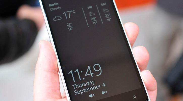 Ekran podglądu Lumia