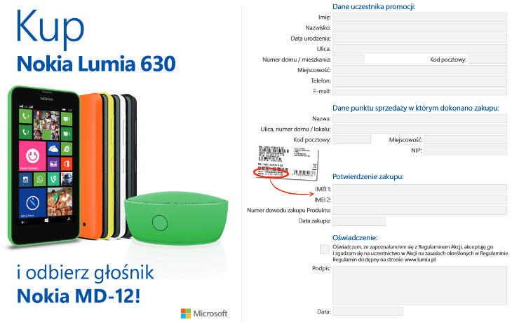 Formularz głośnik Nokia MD-12