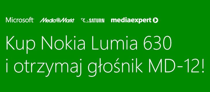 Kup Nokia Lumia 630 i otrzymaj głośnik MD-12