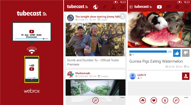 Tubecast Windows Phone