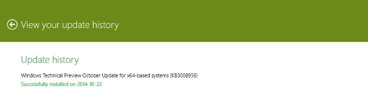 Windows 10 Update - KB3008956