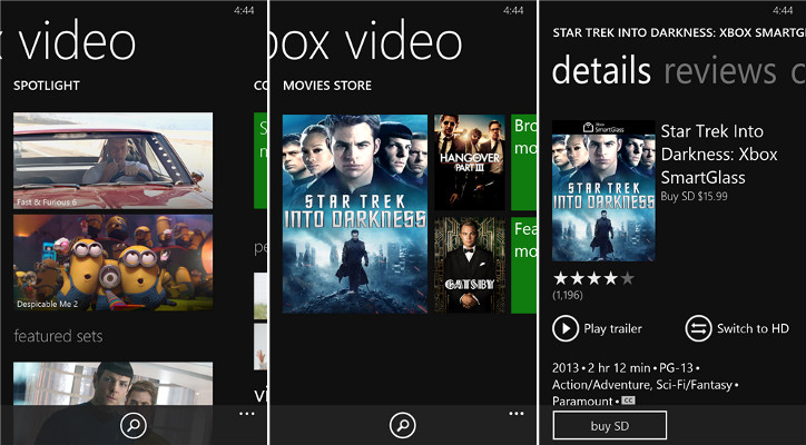 Xbox Video Windows Phone