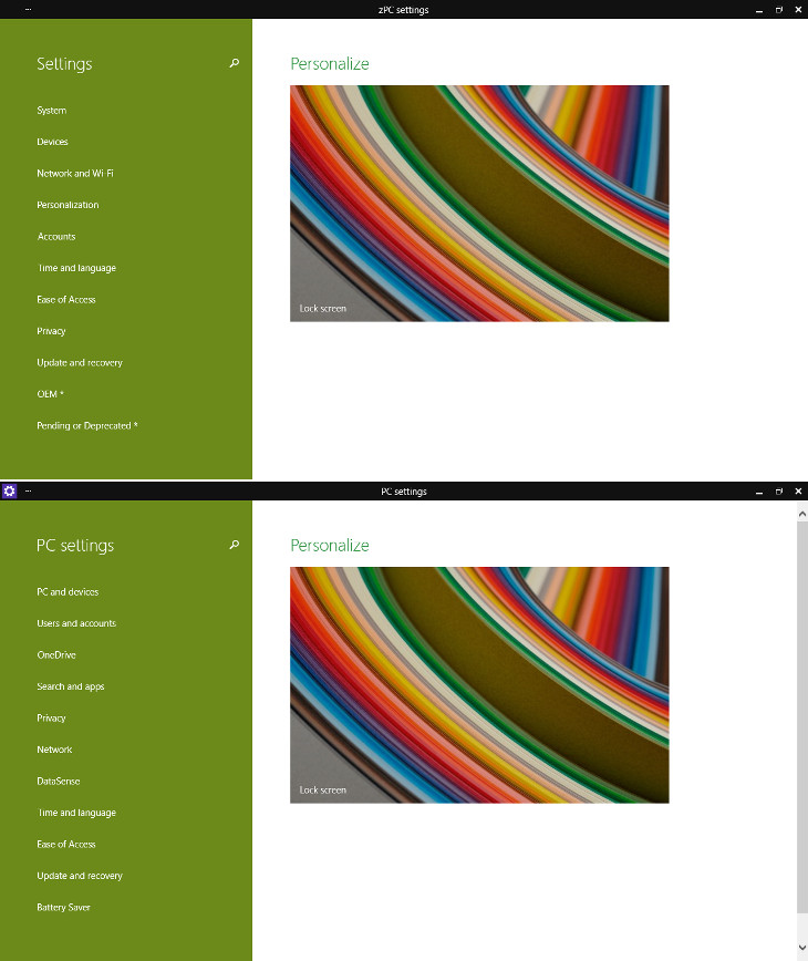 zPC Settings i PC Settings w Windows 10