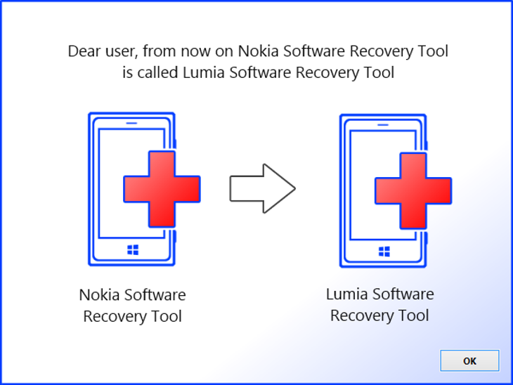 Nokia Software Recovery Tool zmienia się w Lumia Software Recovery Tool