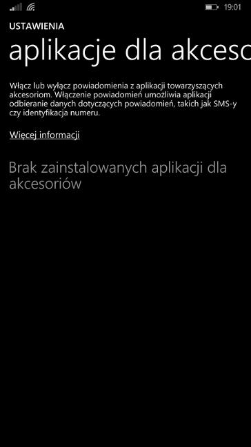 Aplikacje dla akcesoriów w Windows Phone 8.1 Update 1 (Lumia Denim)