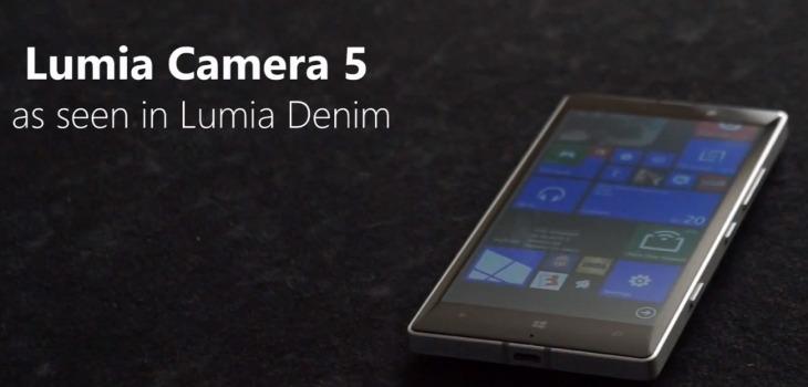 Lumia Camera 5 w aktualizacji Lumia Denim