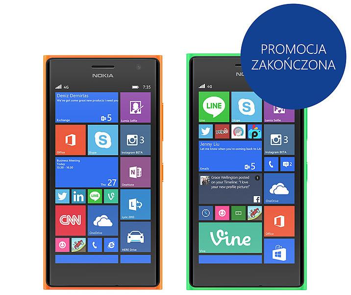 Promocja zakończona - odbierz 200zł przy zakupie Lumia 730 i Lumia 735