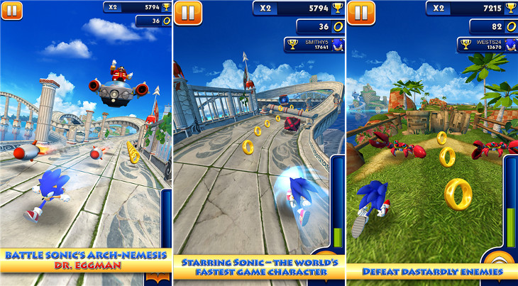 Sonic Dash Windows Phone