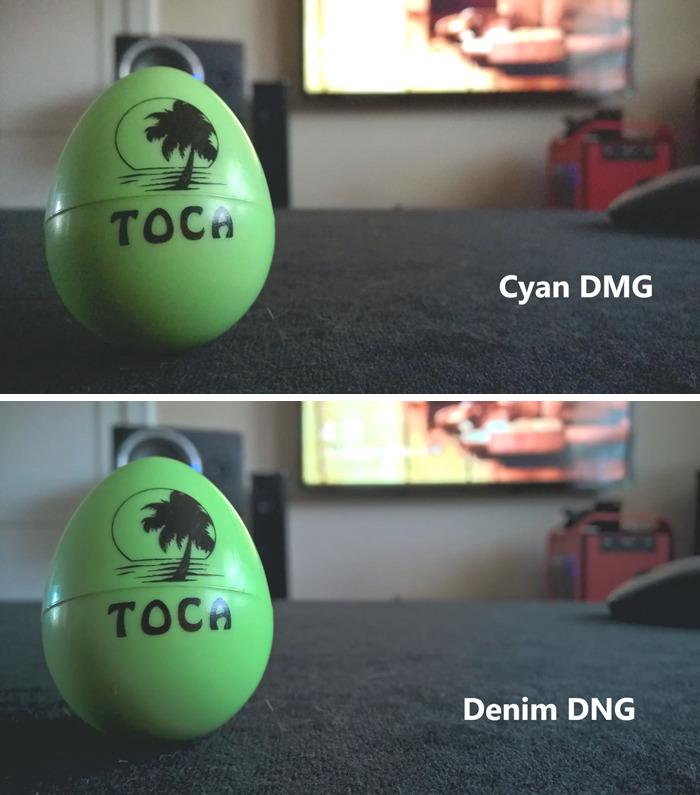 Porównanie jakości zdjęć - Cyan i Denim