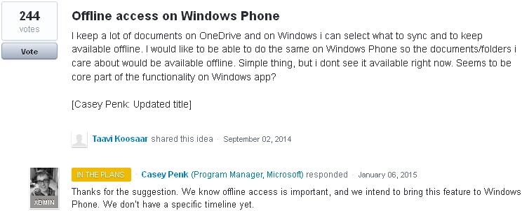 Offline OneDrive