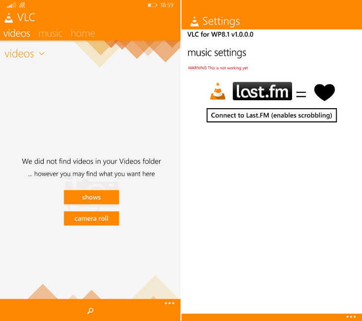VLC Windows Phone
