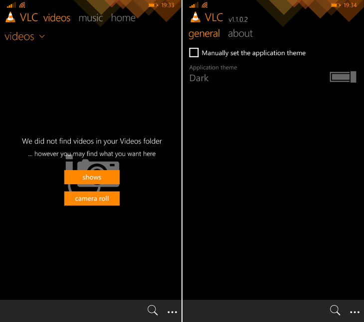 VLC dla Windows Phone