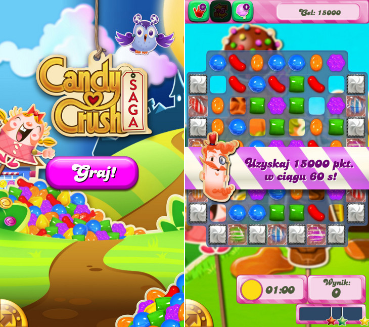 Candy Crush Saga dla Windows Phone