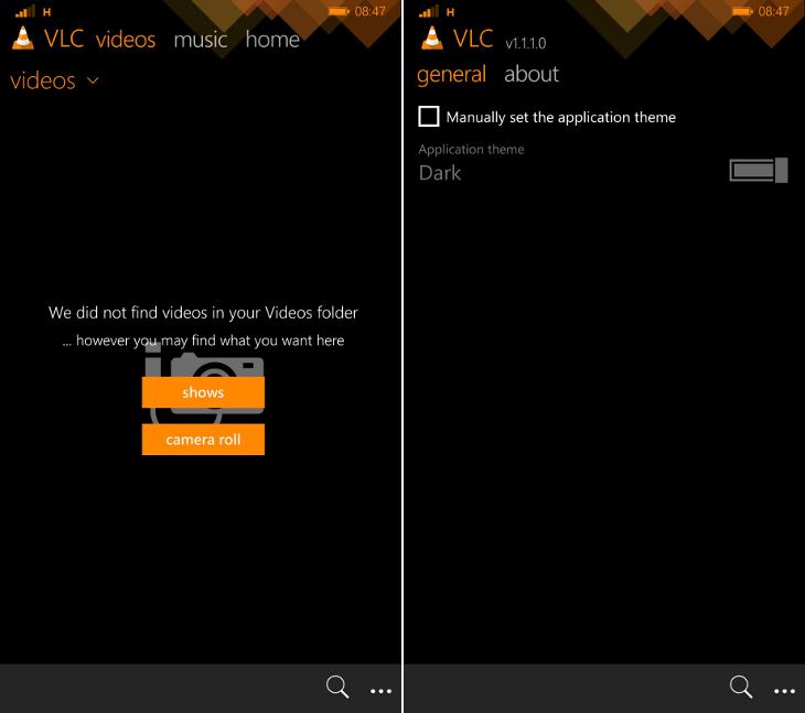 VLC dla Windows Phone