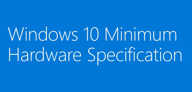Wymagania sprzętowe Windows 10