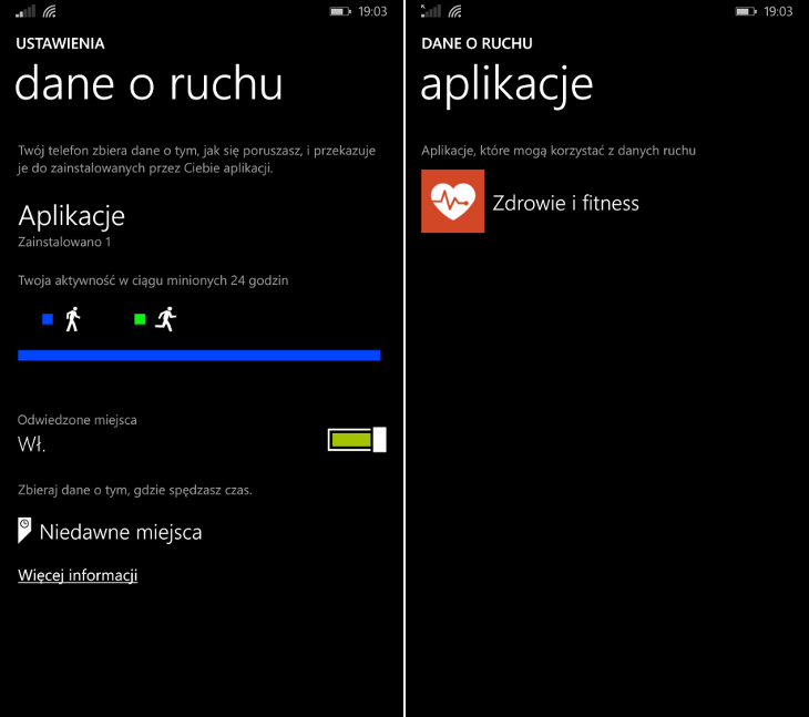 Dane o ruchu Windows Phone
