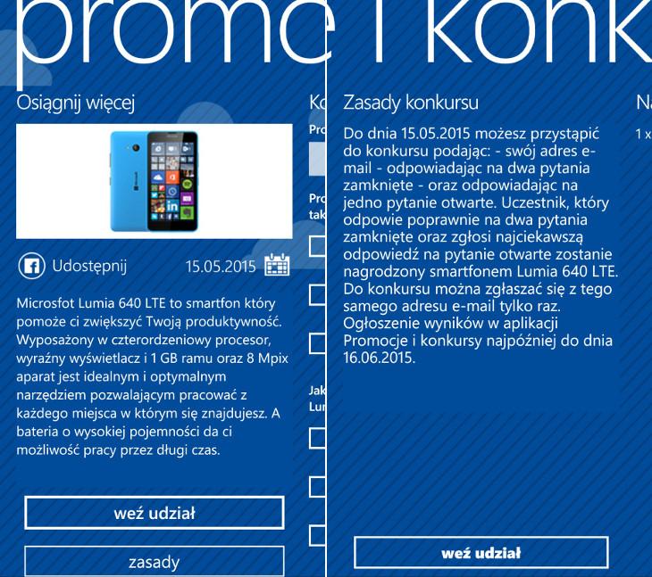 Konkurs Microsoft Lumia 640 LTE