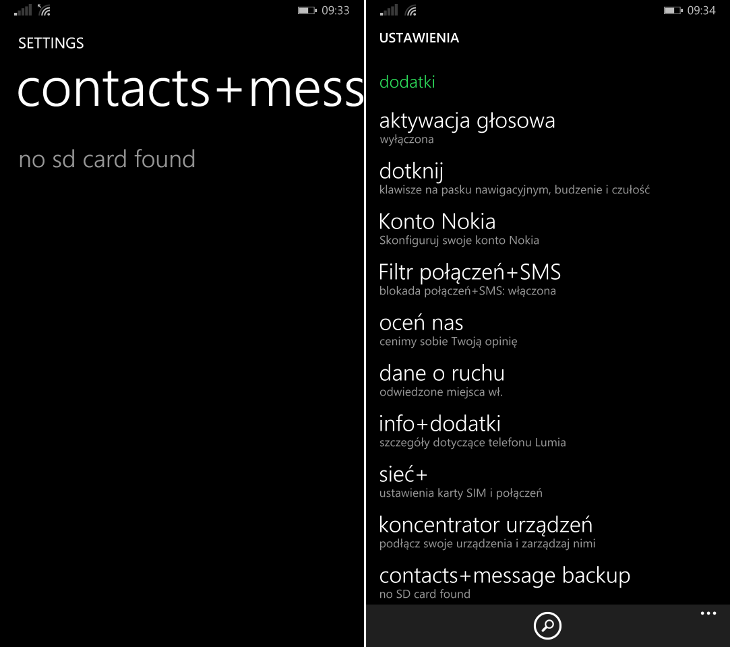 contacts+message backup Windows Phone 8.1 Update 2