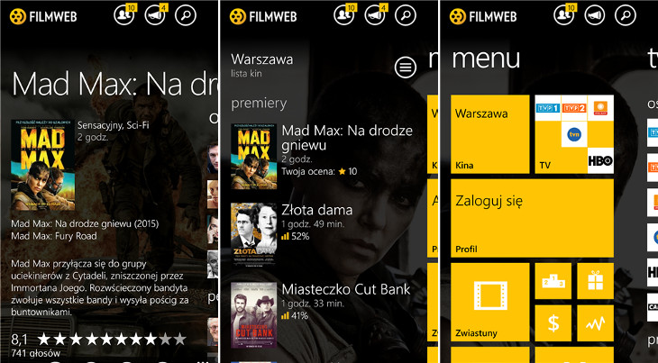 Filmweb Windows Phone