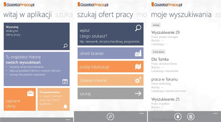 GazetaPraca.pl dla Windows Phone
