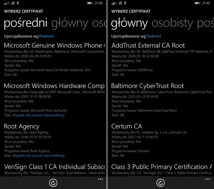 Microsoft Certfikaty