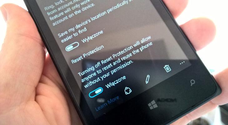 Ochrona przed zresetowaniem Windows 10 Technical Preview