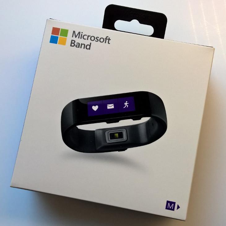 Pudełko Microsoft Band