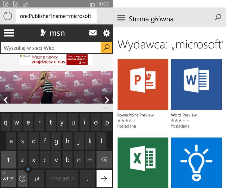 Sklep Windows Beta - aplikacje danego producenta