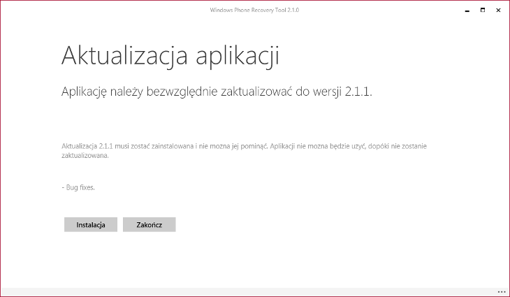 Windows Phone Recovery Tool 2.1.1