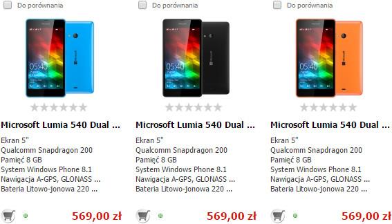 Microsoft Lumia 540 Dual SIM w X-KOM