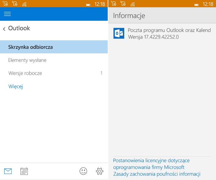 Poczta programu Outlook dla Windows 10 Mobile