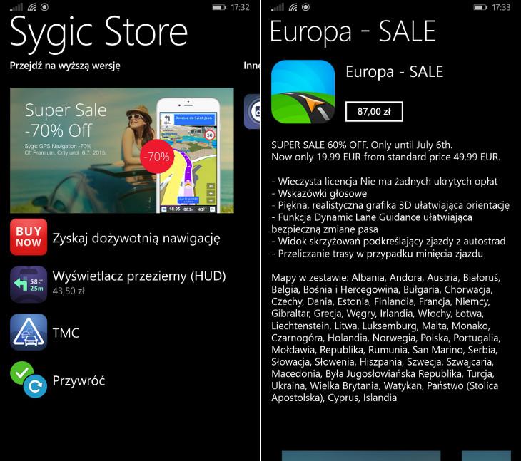Mapy Sygic w promocji dla Windows Phone