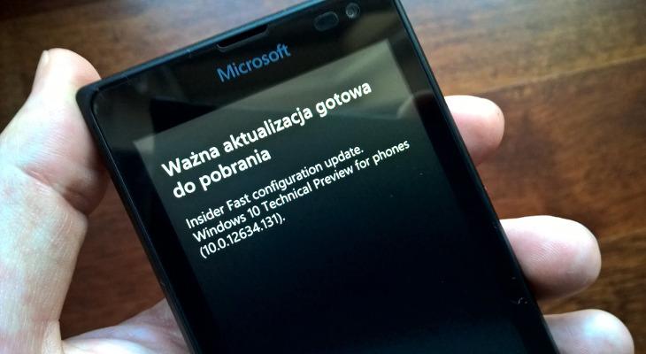 Windows 10 Mobile - 10.0.12634.131 Build 10136