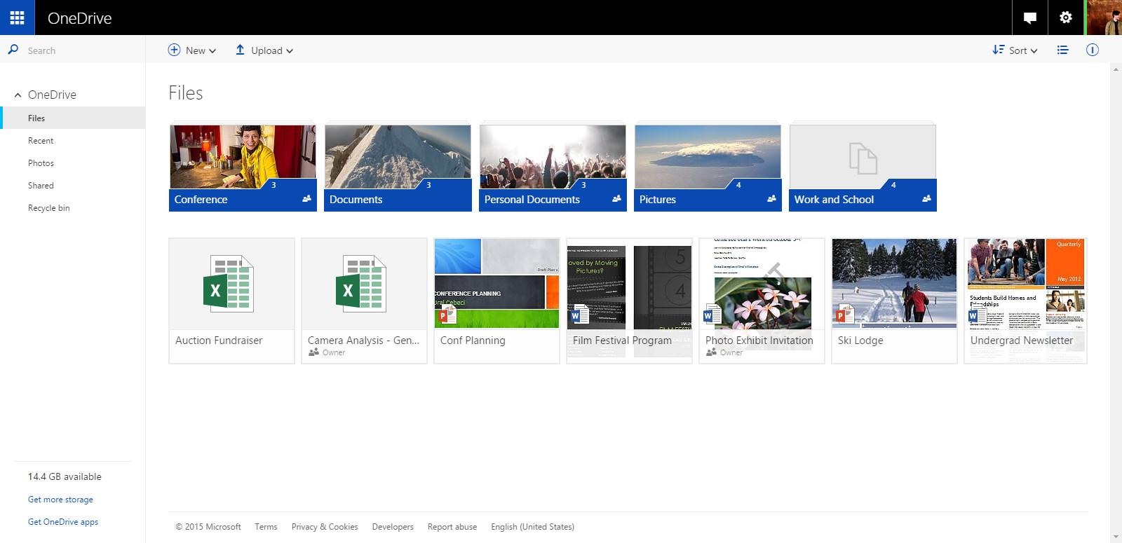 OneDrive webUI
