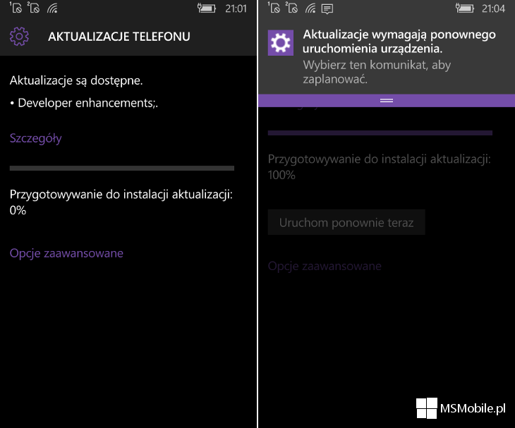 Developer enhancements Windows 10 Mobile