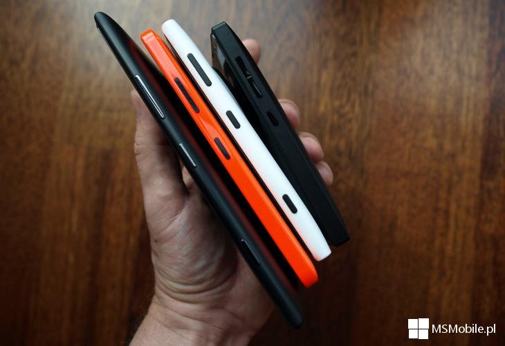Lumia 1520, 640, 1020, 435 Dual SIM - grubość telefonów