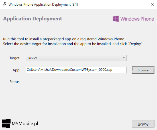 Windows Phone Application Deployment 8.1