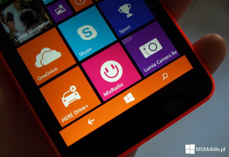Pasek nawigacyjny Windows Phone