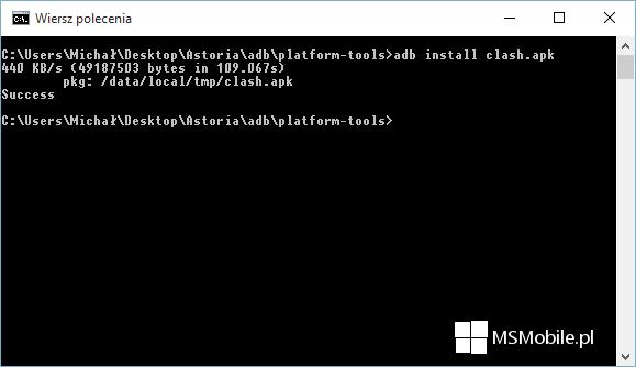 adb install apk